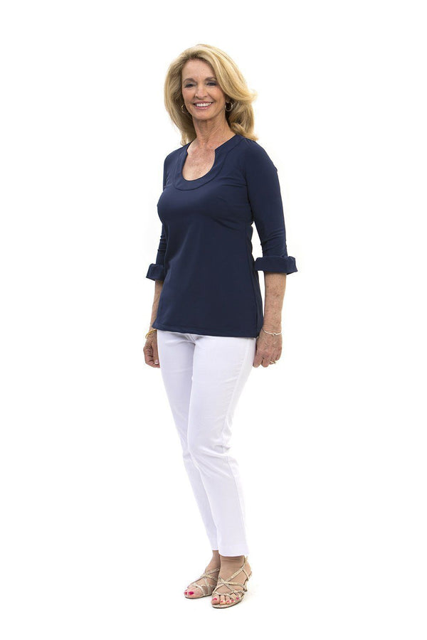Marco Tunic Navy TOPS Katherine Way Collections Navy XS