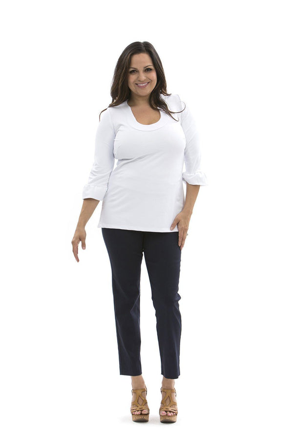Marco Tunic White TOPS Katherine Way Collections White XS