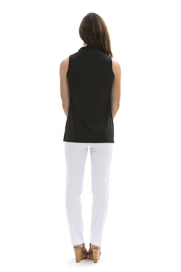 Morada Bay Tunic Black TOPS Katherine Way Collections
