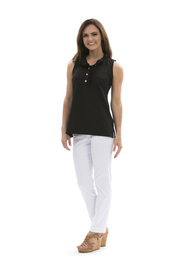 Morada Bay Tunic Black TOPS Katherine Way Collections Black XS