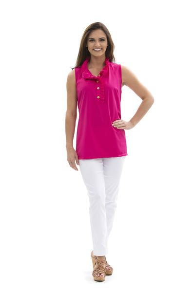 Morada Bay Tunic Geranium TOPS Katherine Way Collections Geranium XS