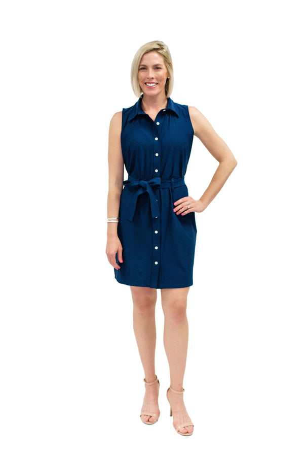 Napa Dress Navy DRESSES Katherine Way Collections Navy XS