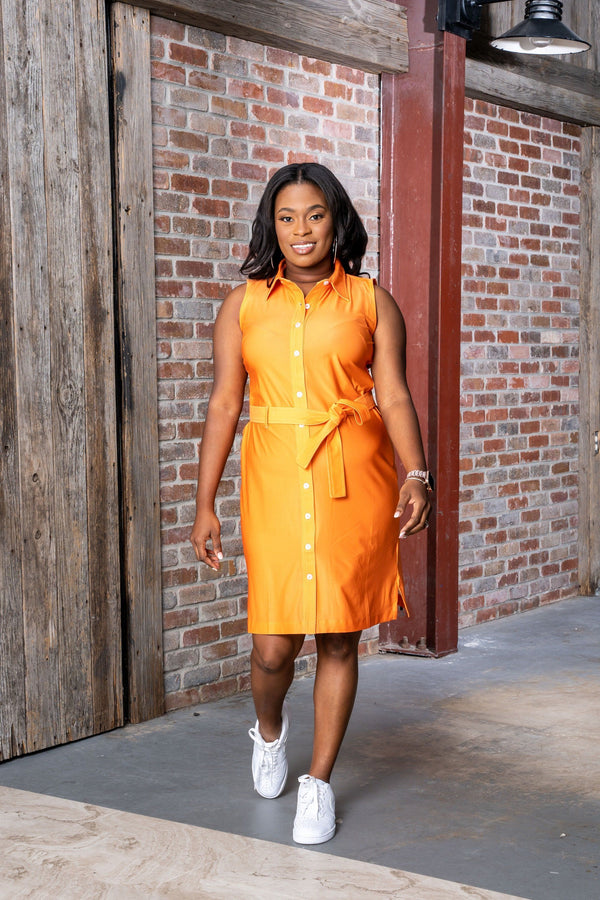 Napa Dress Tennessee Orange DRESSES Katherine Way Collections