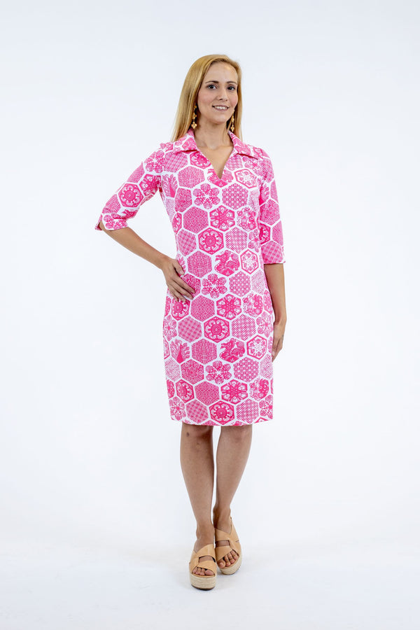 NOLA DRESS CHINESE PAPER PINK DRESSES KATHERINE WAY