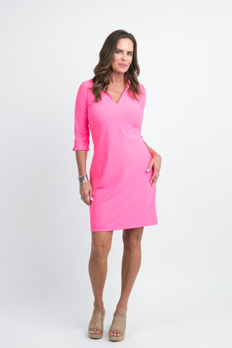 Nola Dress Guava DRESSES Katherine Way Collections Guava XS