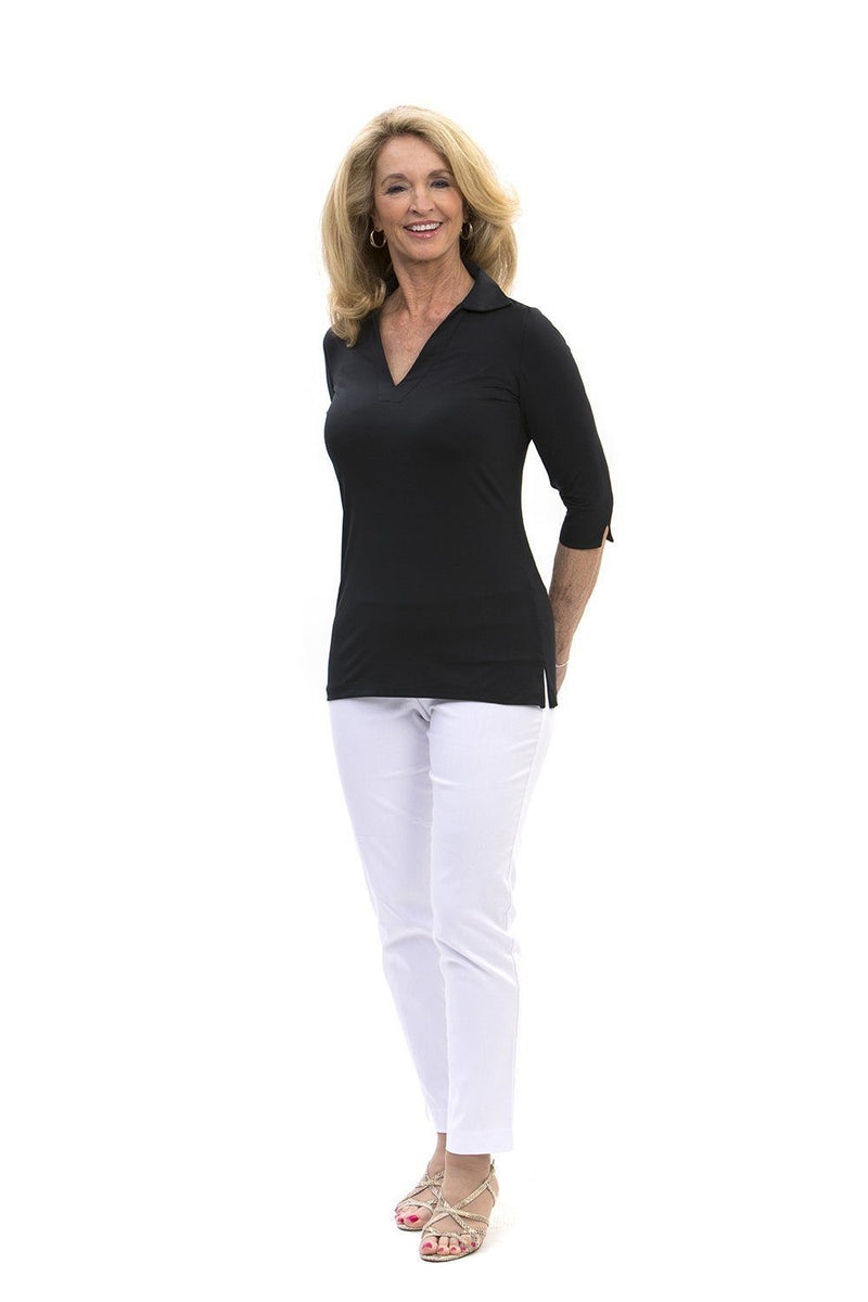 Nola Tunic Black TOPS Katherine Way Collections Black XS