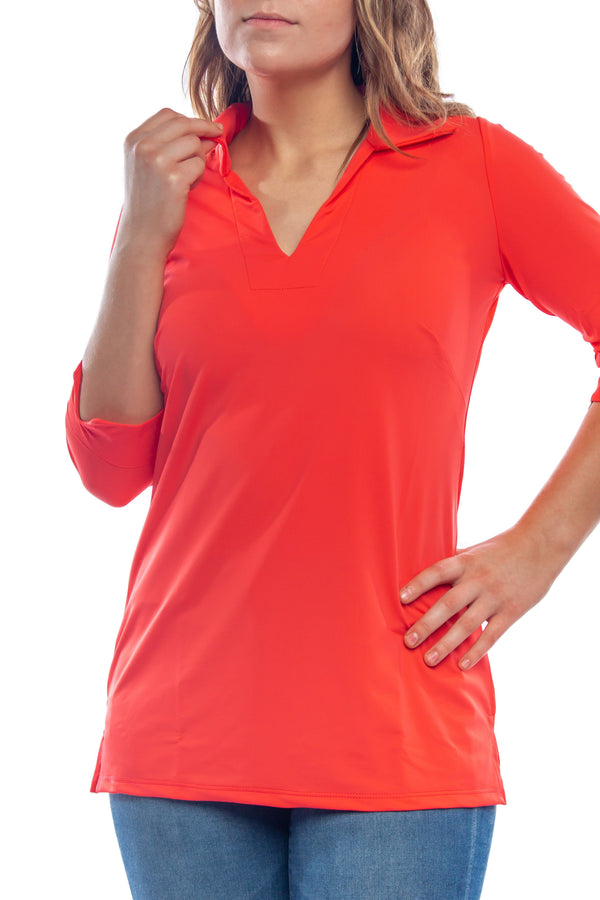 NOLA TUNIC CORAL TOPS KATHERINE WAY