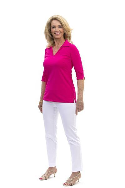 Nola Tunic Geranium TOPS Katherine Way Collections Geranium XS