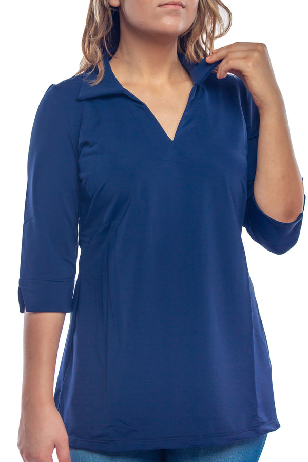 NOLA TUNIC NAVY TOPS KATHERINE WAY