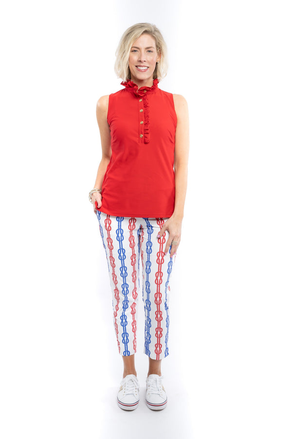 PANAMA PANTS ROPE ROYAL RED BOTTOMS KATHERINE WAY