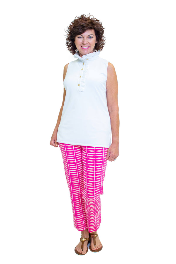 Panama Pants Shibori Geranium BOTTOMS Katherine Way Collections