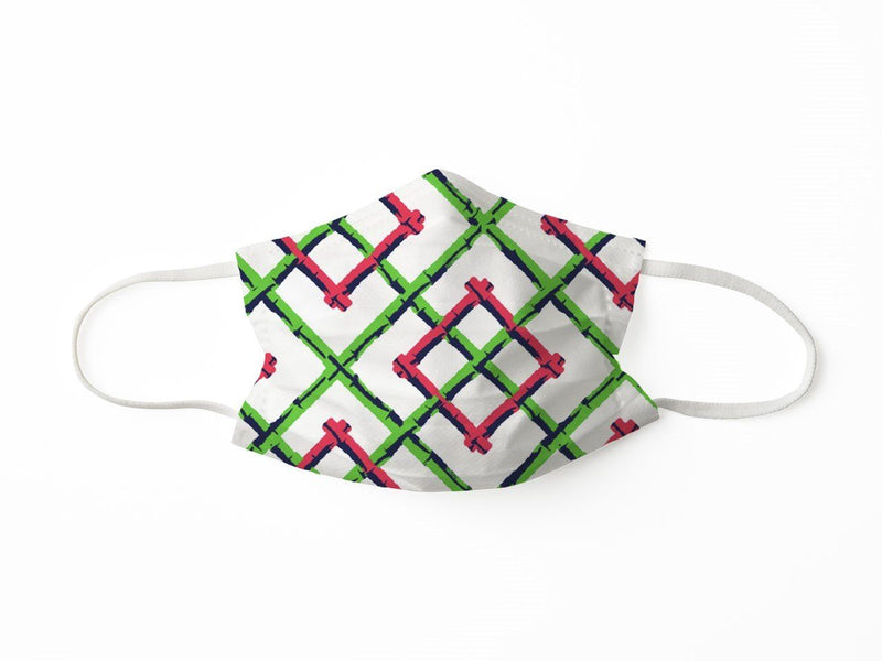 PROTECTIVE FACE MASK BAMBOO FENCE PINK PPE KATHERINE WAY