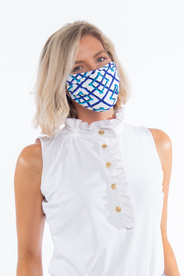 PROTECTIVE FACE MASK BAMBOO FENCE ROYAL PPE KATHERINE WAY
