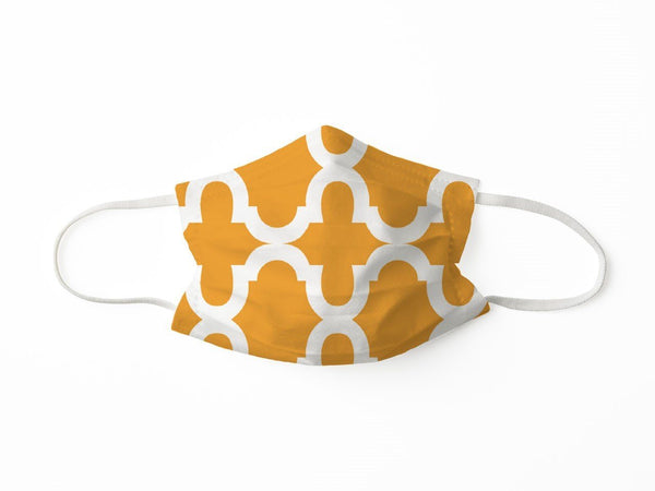 PROTECTIVE FACE MASK BOLD TRELLIS ORANGE PPE KATHERINE WAY