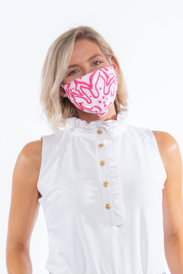PROTECTIVE FACE MASK FLORAL FUN PINK PPE KATHERINE WAY