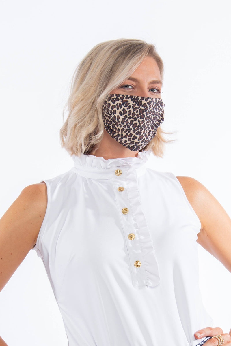 PROTECTIVE FACE MASK LEOPARD BROWN TAN PPE KATHERINE WAY