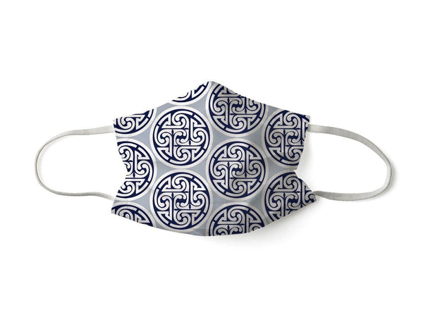 PROTECTIVE FACE MASK MEDALLION NAVY GREY PPE KATHERINE WAY