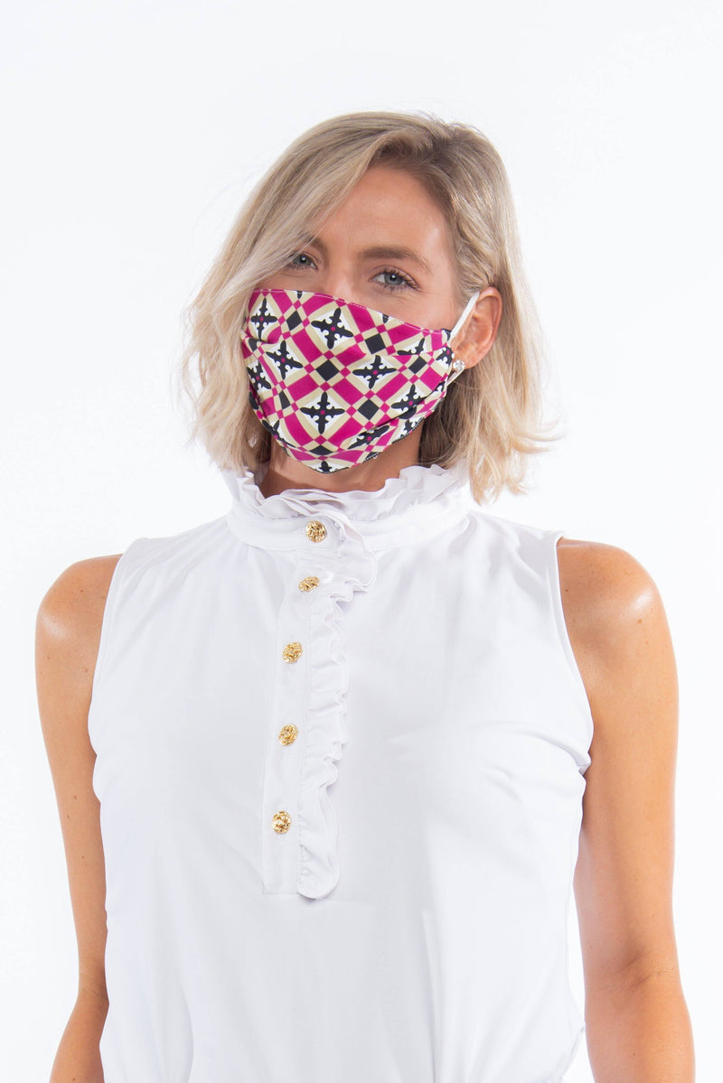 PROTECTIVE FACE MASK MOROCCAN CRANBERRY PPE KATHERINE WAY