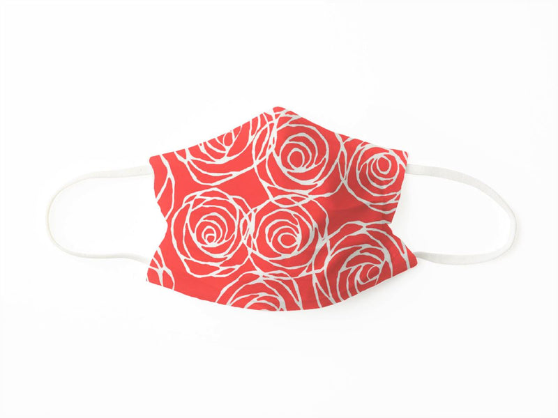 PROTECTIVE FACE MASK ROSES CORAL PPE KATHERINE WAY