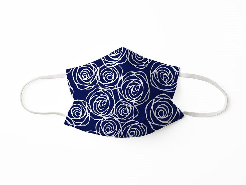 PROTECTIVE FACE MASK ROSES NAVY PPE KATHERINE WAY