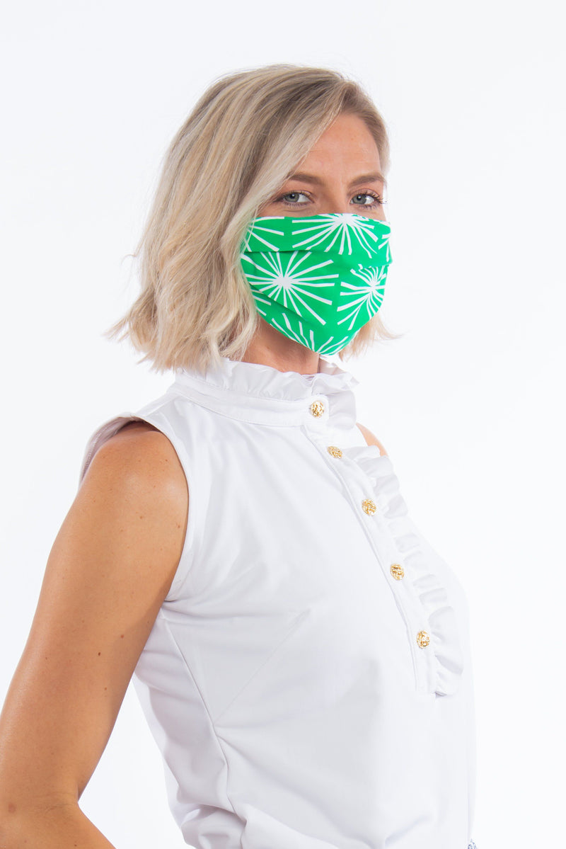 PROTECTIVE FACE MASK STARBURST GREEN PPE KATHERINE WAY