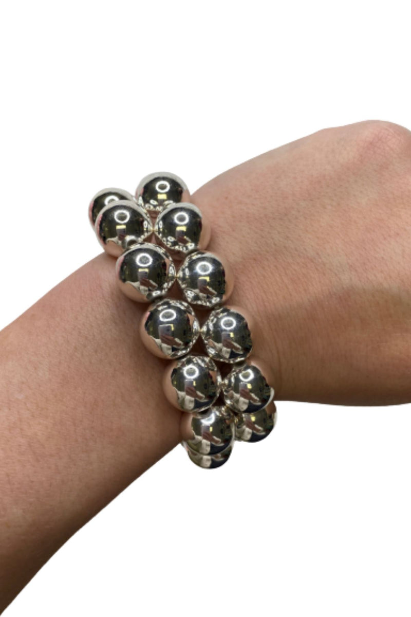 RHODIUM BALL BRACELET JEWELRY GOLDEN STELLA