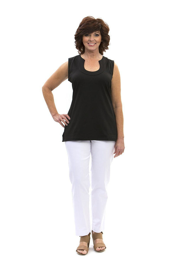 Sanibel Tunic Black TOPS Katherine Way Collections Black XS