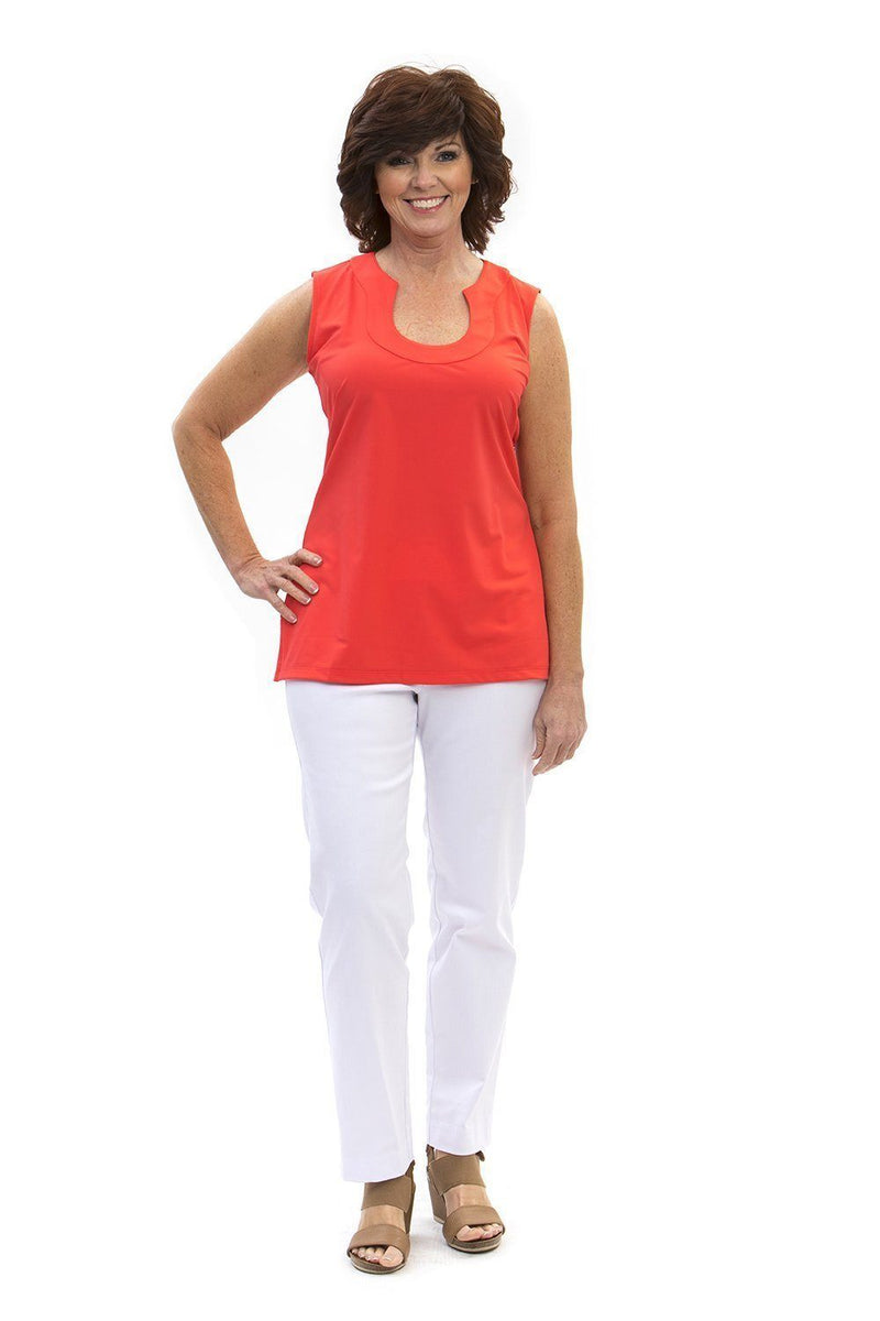 Sanibel Tunic Coral TOPS Katherine Way Collections Coral XS