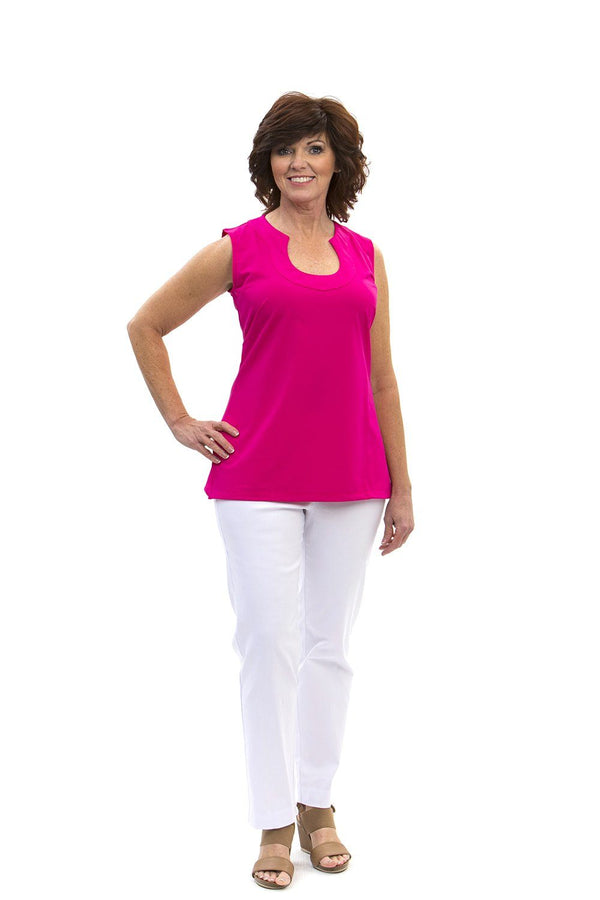Sanibel Tunic Geranium TOPS Katherine Way Collections