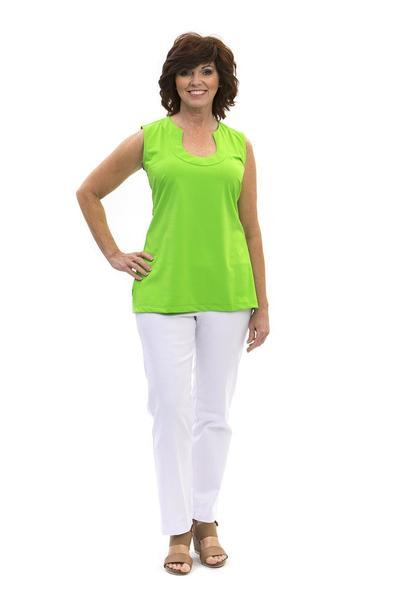 Sanibel Tunic Lime TOPS Katherine Way Collections Lime XS