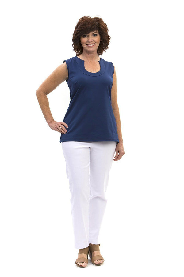 Sanibel Tunic Navy TOPS Katherine Way Collections Navy XS