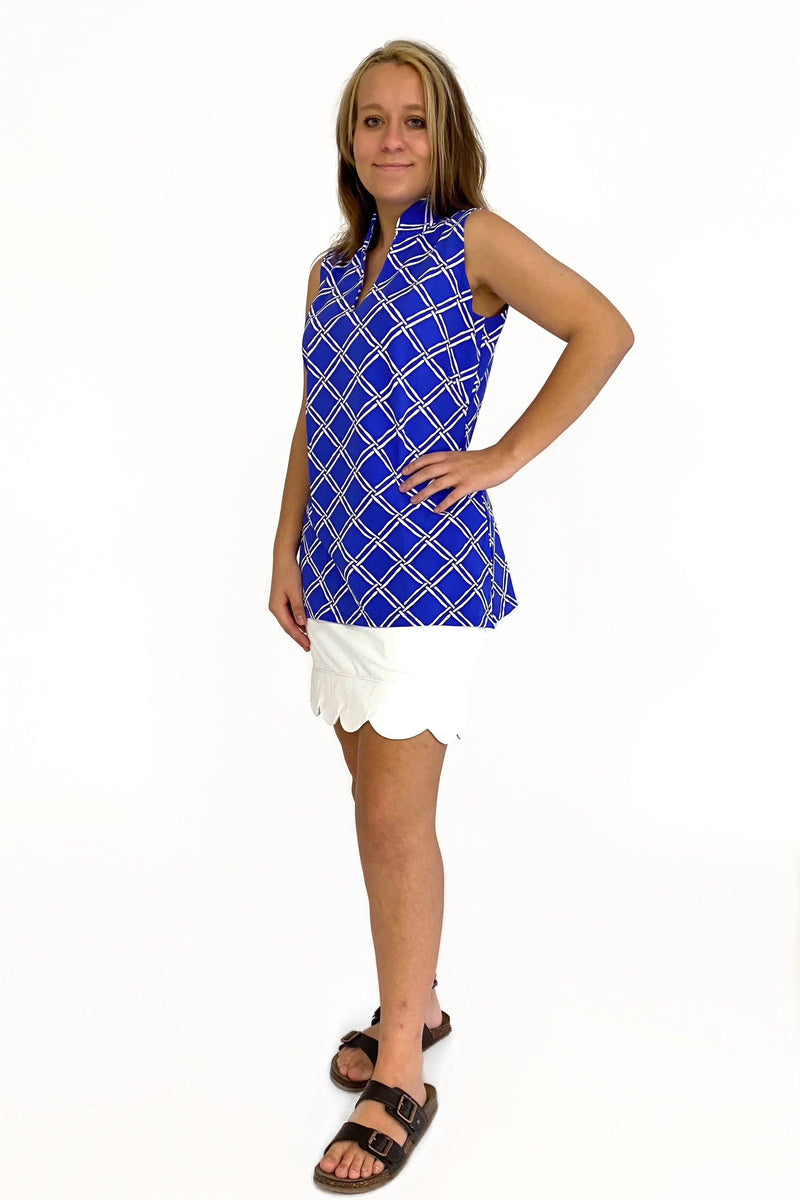 SANTA ANA TUNIC BAMBOO WINDOW ROYAL TOPS KATHERINE WAY