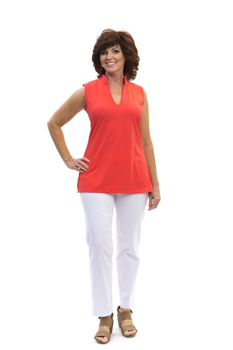 Santa Ana Tunic Coral TOPS Katherine Way Collections Coral XS