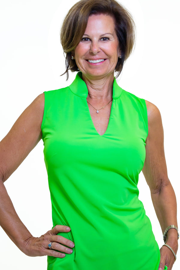 SANTA ANA TUNIC LIME TOPS KATHERINE WAY