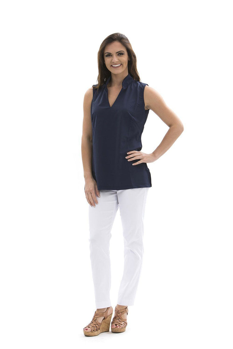 Santa Ana Tunic Navy TOPS Katherine Way Collections Navy XS