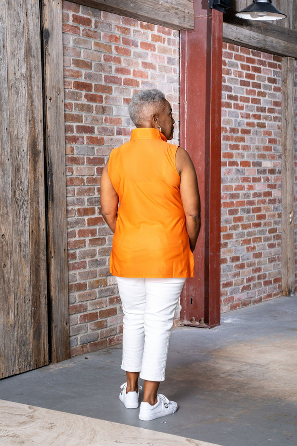 Santa Ana Tunic Tennessee Orange TOPS Katherine Way Collections