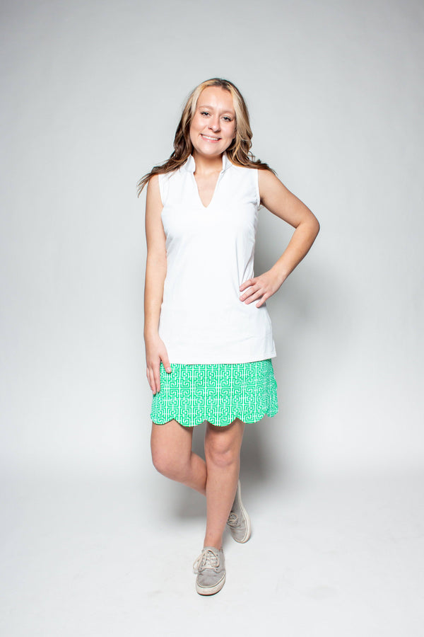 SANTA ANA TUNIC WHITE TOPS KATHERINE WAY