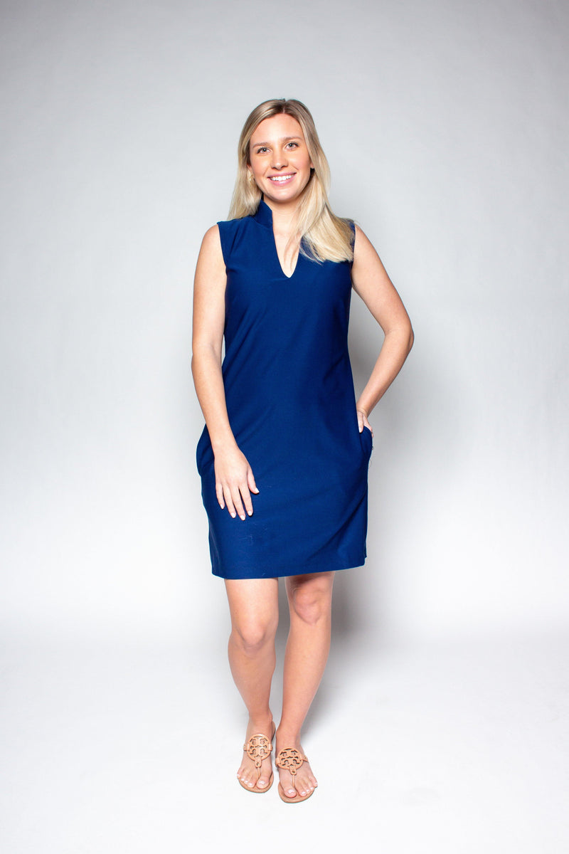 SANTA ROSA DRESS NAVY DRESSES KATHERINE WAY