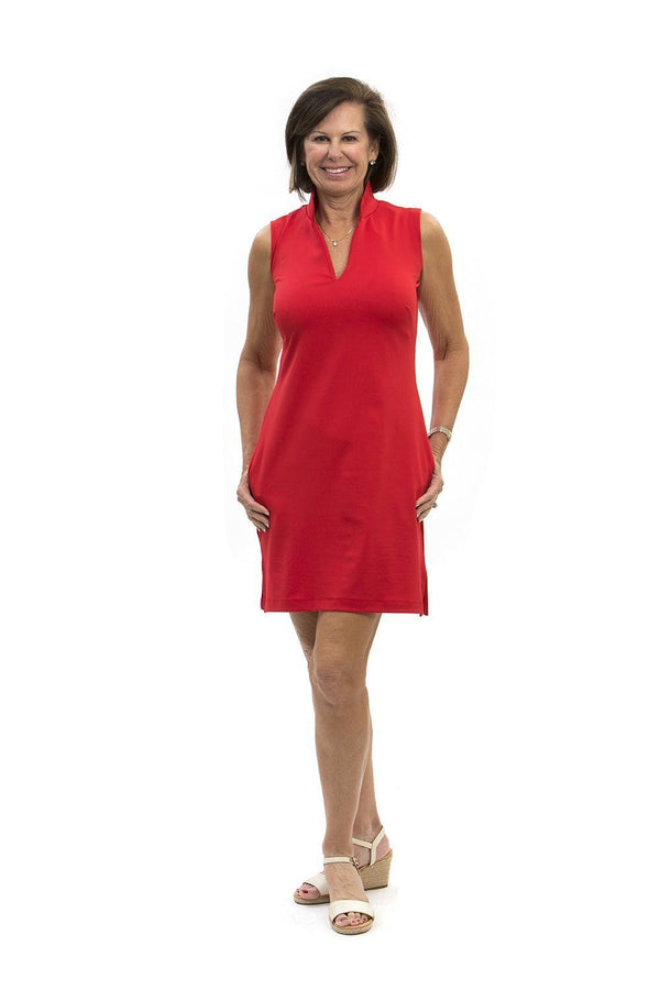 Santa Rosa Dress Red DRESSES Katherine Way Collections Red XS