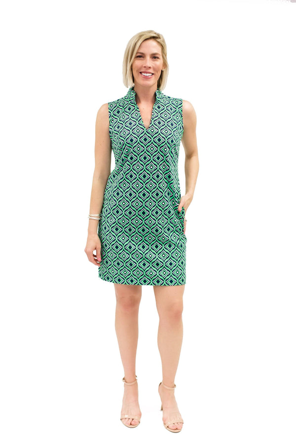 Santa Rosa Dress Trevino Navy Lime DRESSES Katherine Way Collections Trevino Navy Lime XS