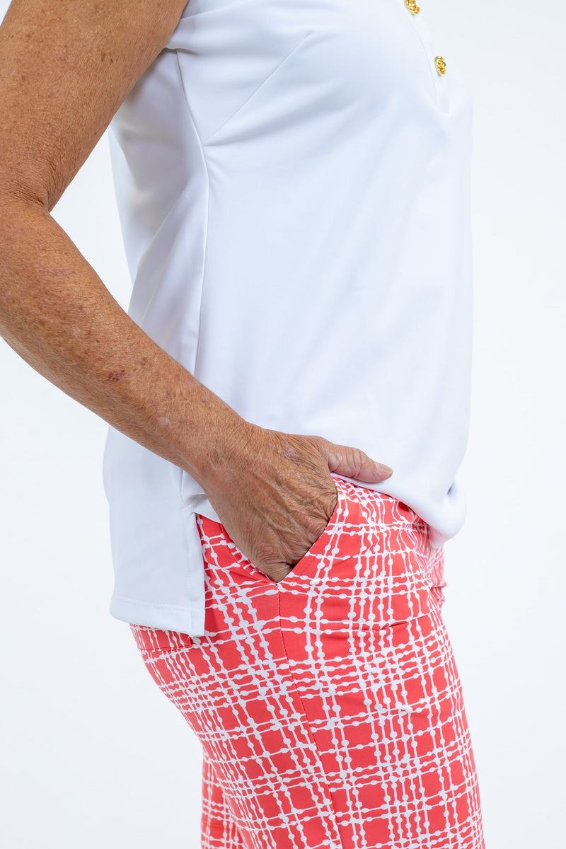 Sawgrass Shorts Plaid Dots Coral BOTTOMS Katherine Way Collections
