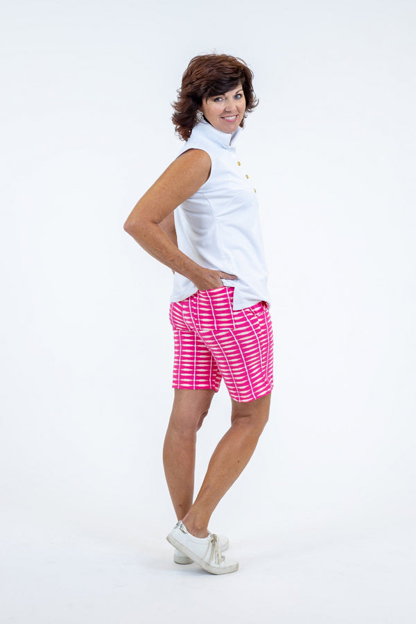 Sawgrass Shorts Shibori Geranium BOTTOMS Katherine Way Collections