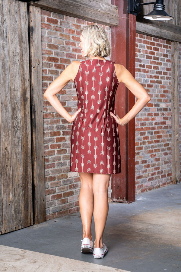 Seaside Dress Arrows Garnet Gold DRESSES Katherine Way Collections