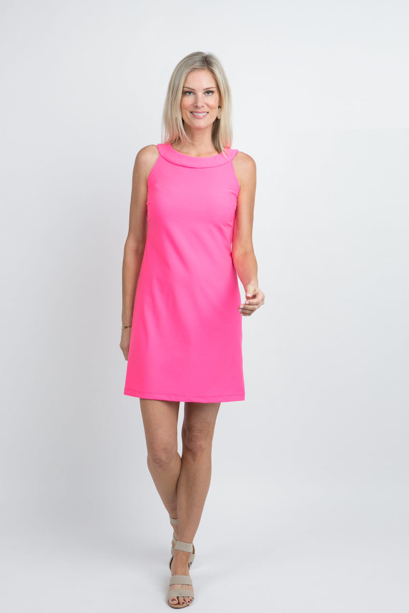 Seaside Dress Guava DRESSES Katherine Way Collections Guava XS