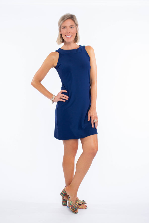 SEASIDE DRESS NAVY DRESSES KATHERINE WAY