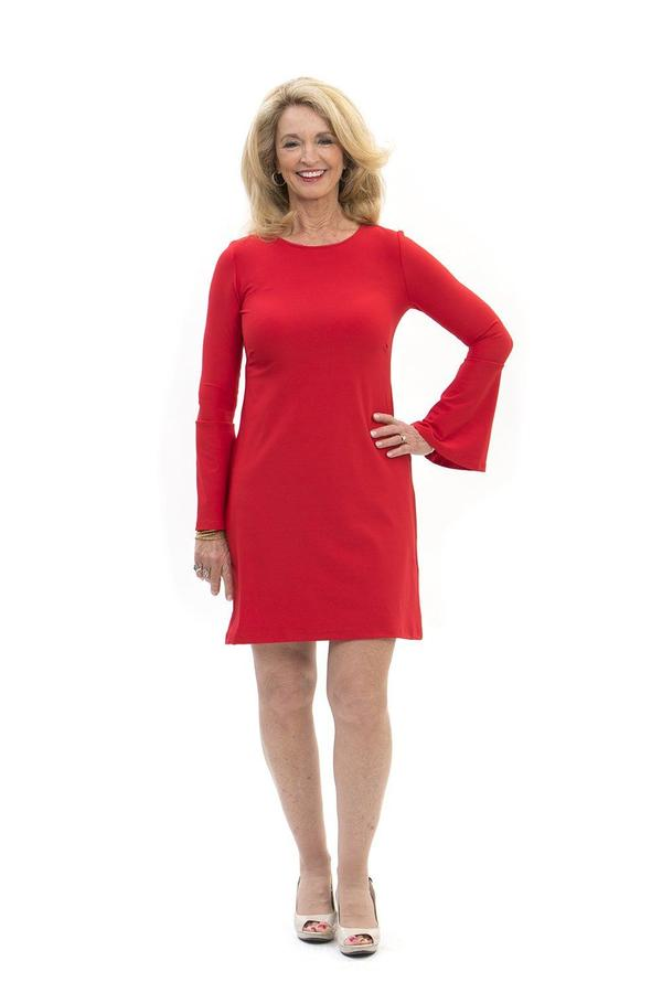 Somerset Dress Red DRESSES Katherine Way Collections Red XS