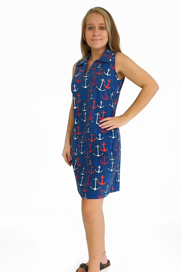 ST. REGIS DRESS ANCHORS RED NAVY DRESSES KATHERINE WAY