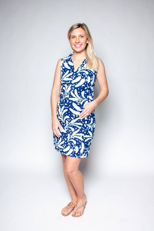 ST. REGIS DRESS BANANA LEAVES NAVY DRESSES KATHERINE WAY