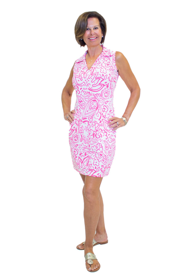 St. Regis Dress Floral Fun Pink DRESSES Katherine Way Collections