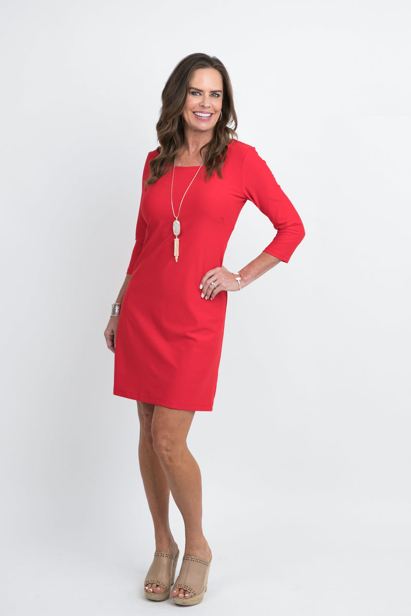 St. Simons Dress Red DRESSES Katherine Way Collections Red XS